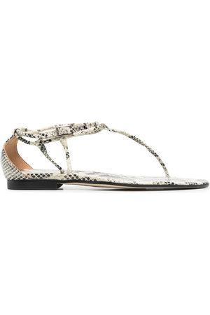 PARIS TEXAS Damen Sandalen - Snakeskin-effect sandals