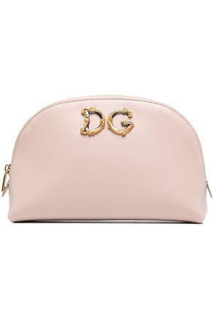 Dolce & Gabbana DG leather makeup bag