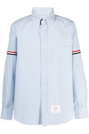 Thom Browne Herren Lange Ärmel - Vertical-stripe long-sleeve shirt