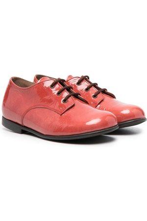 PèPè Mädchen Schnürschuhe - Glossy lace-up ballerina shoes