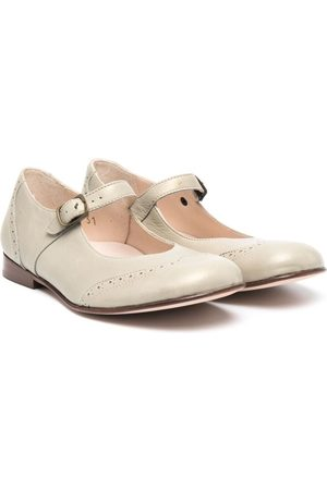 PèPè Mädchen Ballerinas - Buckle-fastening leather ballerinas