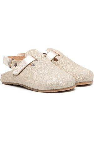 Pèpè Glittery leather slippers