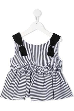MONNALISA Mädchen Tops - Striped pleated vest