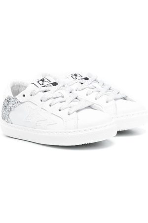 2 stars Logo-printed low-top sneakers