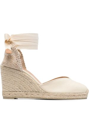 Castaner Tie-fastening wedge sandals