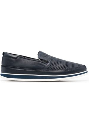 BALDININI Herren Halbschuhe - Perforated-detail leather loafers