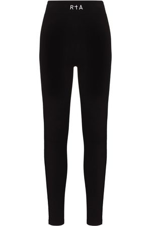 RTA Damen Leggings & Treggings - Embroidered logo high-waisted leggings