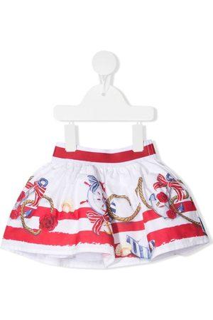 MONNALISA Mädchen Bedruckte Röcke - Anchor print mini skirt