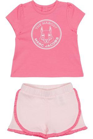 The Marc Jacobs Baby Set aus T-Shirt und Shorts aus Baumwolle