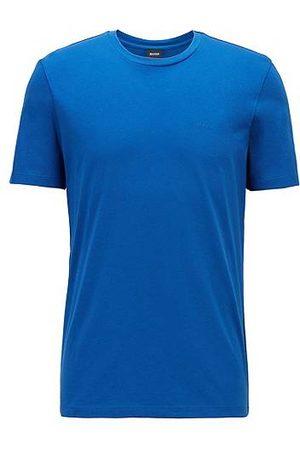 HUGO BOSS Herren Shirts - T-Shirt mit Rundhalsausschnitt aus garngefärbtem Single Jersey