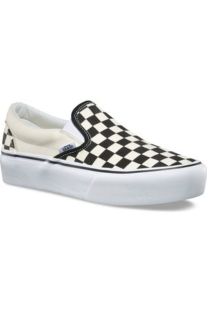 Vans Checkerboard Classic Platform Slip-Ons