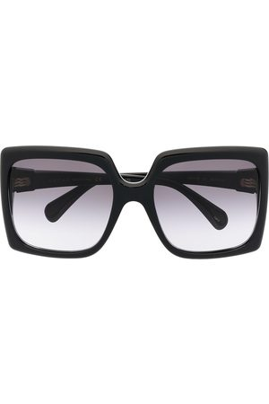 Gucci Damen Sonnenbrillen - Interlocking G oversized square-frame sunglasses