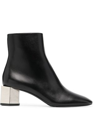 OFF-WHITE Metallic-heel ankle boots