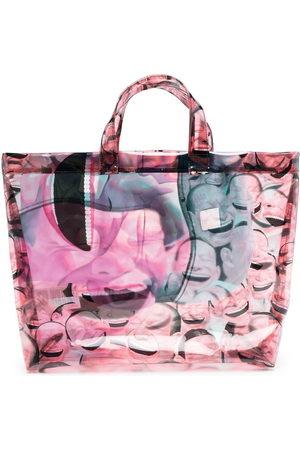 Comme des Garçons Shopper - Face-print tote bag