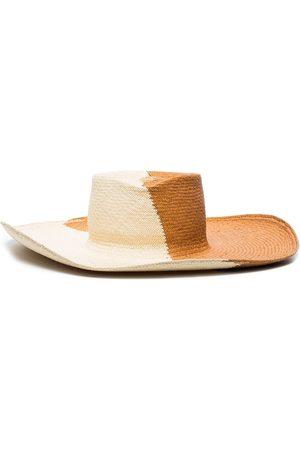 GLADYS TAMEZ MILLINERY Dury Lane two-tone sun hat