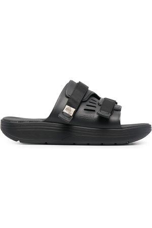 SUICOKE Clogs & Pantoletten - Touch-strap fastening flat slides