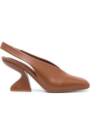 Salvatore Ferragamo Damen Pumps - Sloane chunky-heel 85mm pumps
