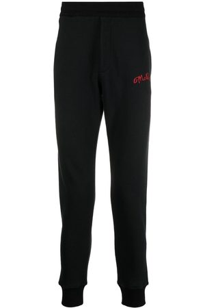 Alexander McQueen Embroidered logo track pants