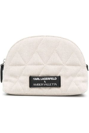 Karl Lagerfeld Damen Kulturbeutel - X Amber Valletta rounded wash bag
