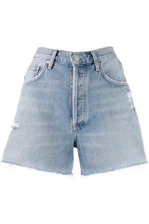 AGOLDE Damen Shorts - Distressed denim shorts