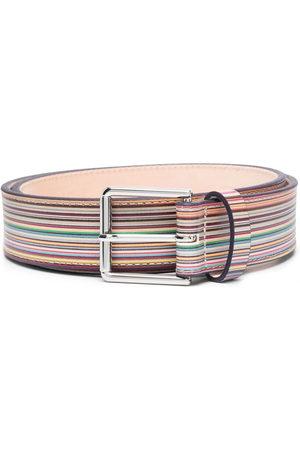 Paul Smith Herren Gürtel - Striped buckle belt