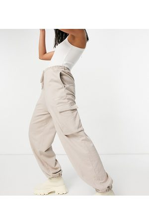 COLLUSION Unisex utility joggers in dusty brown