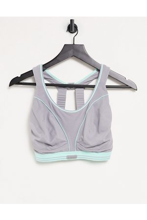 Shock Absorber Ultimate Run extreme high support sports bra in grey-Silver