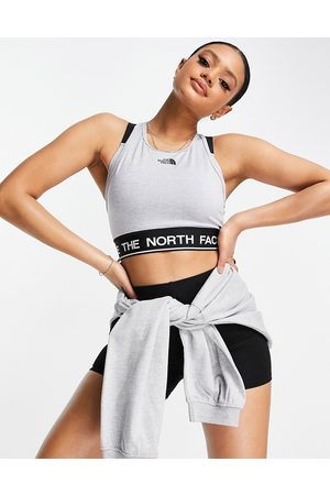 The North Face Tech Tank sports bra in grey