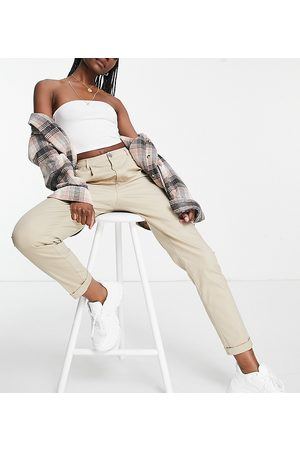ASOS ASOS DESIGN Tall hourglass chino trousers in stone-Neutral