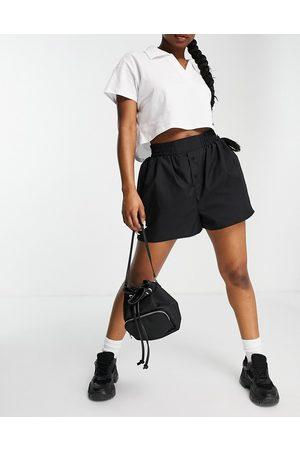ASOS Cotton boxer short in black