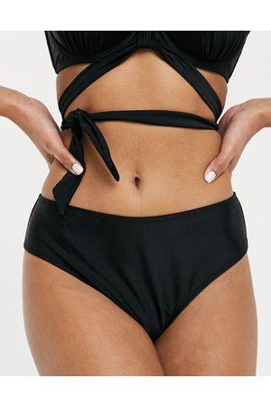 Ivory Rose Fuller Bust mix and match high waist bikini bottom in black