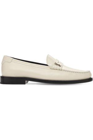 Saint Laurent 15mm Hohe Loafers Aus Leder