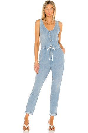 Paige Christy Utility Jumpsuit in - Blue. Size 0 (also in 2, 4, 6, 8, 10).