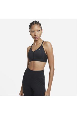 Nike Indy gepolsterter Sport-BH mit leichtem Halt und V-Ausschnitt für Damen