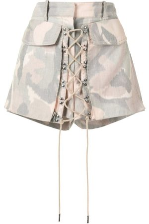 DION LEE Damen Shorts - Ikat camouflage shorts