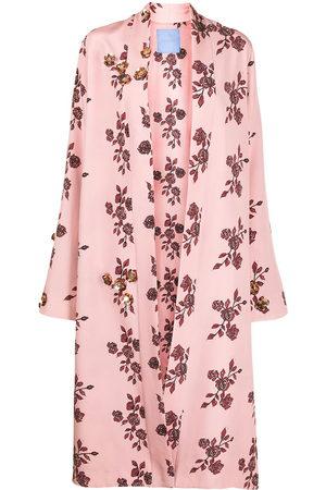 Macgraw Damen Bedruckte Kleider - St Peters floral-print silk robe