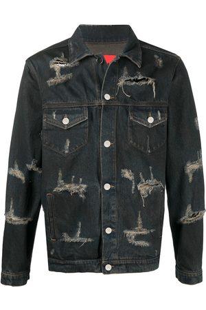 424 FAIRFAX Herren Jeansjacken - Trucker distressed denim jacket