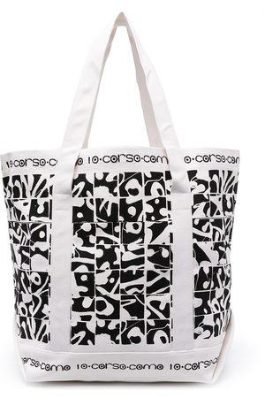 10 CORSO COMO Damen Shopper - Chaoslight canvas graffiti tote