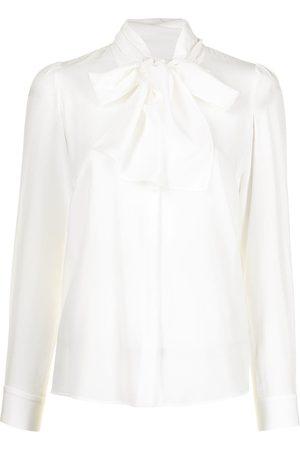 Paule Ka Pussy bow crepe de chine blouse