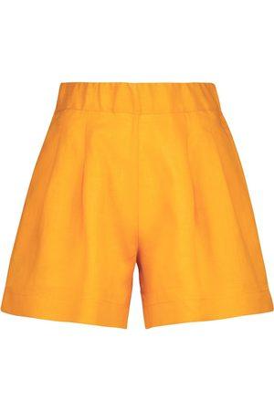 ASCENO Damen Shorts - Shorts Zurich aus Leinen