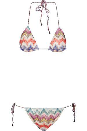 Missoni Triangel-Bikini aus Häkelstrick