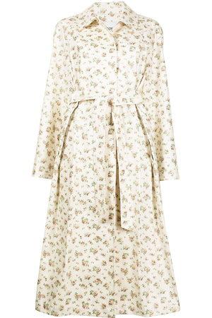 GOEN.J Floral-print trench coat