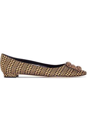 Manolo Blahnik Hangisi pointed-toe ballerina shoes