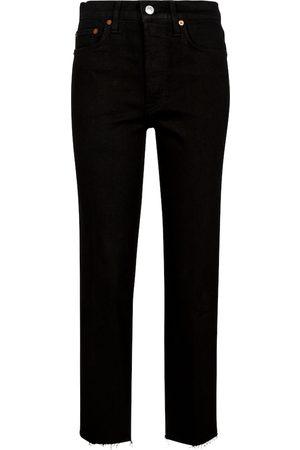 RE/DONE Damen Slim - High-Rise Slim Jeans Stove Pipe