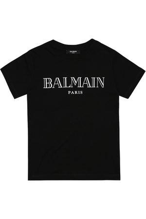 Balmain Mädchen Shirts - Bedrucktes T-Shirt aus Baumwolle