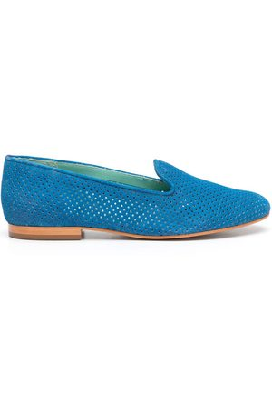 Blue Bird Perforated design loafers