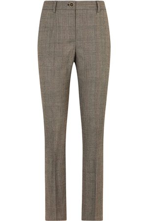 Dolce & Gabbana Damen Stoffhosen - Checked tailored trousers