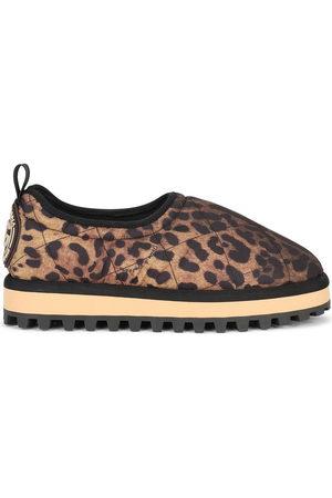 Dolce & Gabbana Damen Sneakers - City leopard-print slip-on shoes