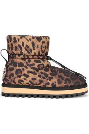 Dolce & Gabbana Damen Stiefeletten - City leopard-print ankle boots