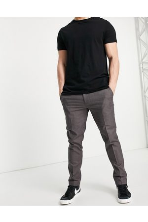 River Island Skinny smart trousers in brown check